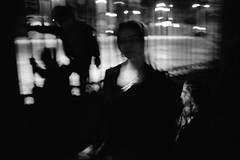 otherland (SimonSawSunlight) Tags: people white black film 35mm fence photography documentary rangefinder m shade analogue whispers sortof otherland sharpasarazor