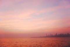 colours of dusk ([s e l v i n]) Tags: sunset sea sky india colors dusk bombay mumbai chowpatty arabiansea chowpattybeach mumbaiskyline colorsofsky selvin