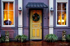 Painted Xmas Door (Stacey A Sanborn) Tags: christmas camera art photoshop photo paint tennessee dslr pixelbender
