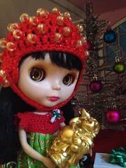 Zoey's happy Christmas happy Buddha
