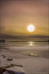 The sunsets of the past (Jack Deem) Tags: winter sunset orange snow beach canon fun good memories maine 7d times raymond past canon7d