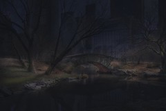 (M O T H M A N) Tags: bridge newyork brick nature night america dark alone nightlife hdr flickraward hdraward