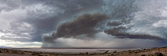 "Storm Front at Spiral Jetty (Scott Stringham ""Rustling Leaf Design"") Tags: lake storm water landscape photography utah sand view desert salt greatsaltlake lookatme miles rebelxt gsl rld greatbasin stringham spiraljetty inlandsea pacificflyway bettereveryday scottstringham rustlingleafdesign wwwrustlingleafdesigncom itsbigenoughforall greatsaltlakewonders"