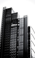 Bar Chart (Skuggzi) Tags: city uk england blackandwhite bw building london window glass monochrome vertical metal architecture modern skyscraper office commerce unitedkingdom steel property business financial finance
