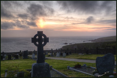 Dunquin Burial Ground at sunset (Wilma van H - thanks for all your lovely comments!) Tags: ireland sunset graveyards dingle sunsets eire dunquin celticcrosses blasketsound dunquinburialground dunquingraveyard dunquincemetery