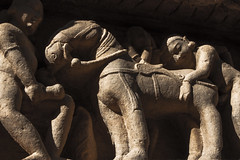 Mr. Ed (Jack Zalium) Tags: india unescoworldheritagesite unesco worldheritagesite hindutemple khajuraho beastiality madhyapradesh ind jaintemple ménageàtrois eroticsculptures khajurahogroupofmonuments medievaltemples maharajpurchhaterpur chhaterpur