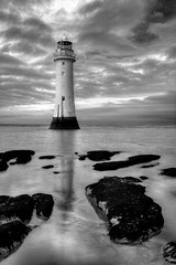 NEW BRIGHTON LIGHTHOUSE (PERCH ROCK), NEW BRIGHTON, MERSEYSIDE, ENGLAND. (ZACERIN) Tags: brighton new nikon brighton river photography rock sea hdr nikon image irish lighthouse lighthouse lighthousetrek hdr england liverpool mersey rock seaside d800 d800 lancashire merseyside perch perch eddystone eddystone