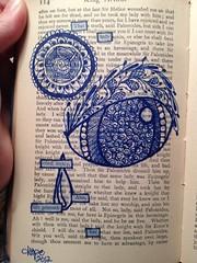 Life grieveth her (Artsy Hope) Tags: doodle alteredbook doodles alteredart foundpoetry mixedmediaart zentangle mixedmediajournal zendoodle