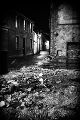 Rack and Ruin (Nick Lambert!) Tags: street blackandwhite bw scotland fuji streetscape stranraer nicklambert fujix100 fujinonasphericallens