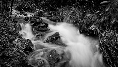 Water water everywhere (Holly Norval) Tags: blackandwhite blur nature water canon peakdistrict slowshutter eos400d
