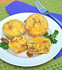Savory Sausage Breakfast Muffins (Kitchen Life of a Navy Wife) Tags: