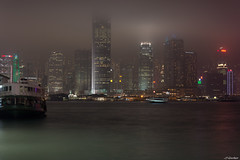 Hong Kong #Victoria Harbour de nuit (jf garbez) Tags: voyage china city nightphotography travel house mist building fog sky