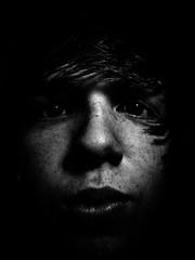 . (hornbeck) Tags: boy portrait blackandwhite bw oklahoma