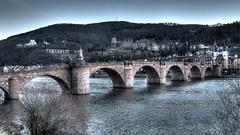 Bridge in Heidelberg (wianphoto) Tags: city castle pen river riverside olympus heidelberg hdr neckar 14mm pl5 hdrpicture heidelbergerschlos olympuspenpl5 nightattheneckar darkatheidelberg