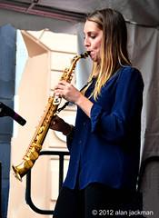 Hailey Niswanger, Hailey Niswanger Quartet, 2012 Beantown Jazz Festival (jackman on jazz) Tags: music concert massachusetts jazzfestival berklee berkleecollegeofmusic jackmanonjazz alanjackman beantownjazzfestivalboston haileybinswanger haileybinswangerquartet