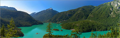 Diablo Lake Panorama color edit (1ns0mn1ac) Tags: panorama water photoshop canon afternoon masks gradient pacificnorthwest layers usm polarizer lightroom northcascadesnationalpark diablolake torquiose t2i huelayer eos550d