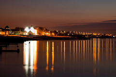 night time Neppie (Georgio's Photography) Tags: longexposure winter light reflection water night reflections landscape kent lowlight wibble geo groyne whitstable millpond georgio