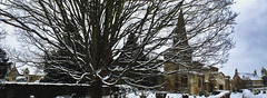 Brigstock Church and Manor (Vide Cor Meum Images) Tags: winter snow tree texture ice church wall grey fuji northamptonshire graves churchyard manor cor northants saxon vide hs20 brigstock meum markcoleman hs20exr mac010665yahoocouk videcormeumimages