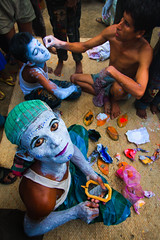 Concrete faith (Catch the dream) Tags: man facepainting makeup masks devotees bangladesh puja religiousfestival dhamrai charak ruraltraditions charakpuza
