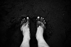 theGroundedFeet (davidclifford) Tags: africa blackandwhite bw black feet beach monochrome contrast project dark island volcano sand essay african monotone story lookdown geography volcanic fogo ongoing archipelago photoessay saofilipe