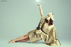 Overload (PHOTODRAMA *) Tags: madrid woman green art fashion studio gold design spain dress actress photodrama