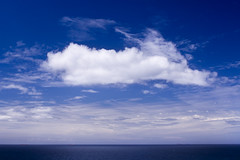 cloud over coast (adamfaulknergraphics) Tags: ocean blue sea cloud white water canon newcastle coast ship australia nsw nikkor28mmais abcopen:project=lookingup