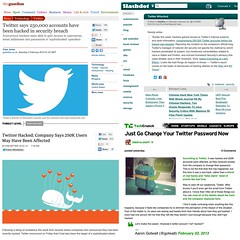 """""""Twitter Hacked: 250k accounts affected"""" #secu..."""