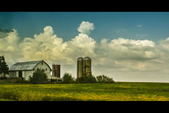 barn_silo (Zagros.os) Tags: sky house green clouds farm silo fields