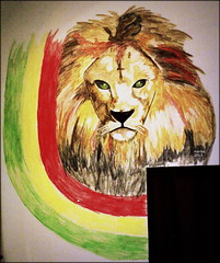 lion of judah (marlies.w) Tags: streetart animal watercolor painting drawing wand lion jamaica reggae farbe malen lwe aquarell