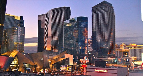 city center sunset, Las Vegas by David McSpadden, on Flickr