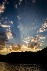 (_miglesias) Tags: sunset summer patagonia sun lake southamerica argentina clouds january cloudporn sanmartindelosandes neuquen 2013 january2013