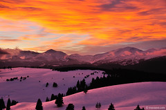about Winter and Wind (.:: Maya ::.) Tags: winter sunset mountain snow nature bulgaria rila        mayaeye mayakarkalicheva