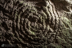 Newgrange chamber spiral (mythicalireland) Tags: ireland art megalithic stone spiral design ancient carving chamber prehistoric petroglyph recess neolithic newgrange boynevalley
