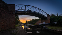 Under Lock and Quay (derekgordon1) Tags: nikond7100 sigma1020 panorama hdr bracketed bridge bricks cobbles water waterscape canal canalscape locks blue bluesky bluehour twilight sunrise earlymorning peaceful solitary reflections reflection reflecting trees green outdoors outside landscape highdynamicrange lightroom
