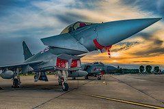41 Sqn Sunset (Lee532) Tags: eurofighter typhoon fast jet fighter aircraft aeroplane plane military aviation raf royal air force coningsby 41 squadron sunset sun set sky clouds nikon d610 nikkor 2470mm outdoor airplane vehicle