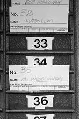 On Shift (chearn73) Tags: blackandwhite cards numbers typography stonewall manitoba roadtrip