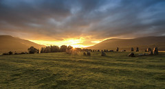 The Arrival (Jonnyfez) Tags: blencathra castlerigg stone circle lake district national park keswick sunrise sun glow burst trust jonnyfez d750 nikon