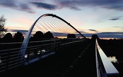 Millennium Bridge at dusk, York (robin denton) Tags: footbridge bridge riverouse rnbyorkshireouse ouse york northyorkshire nightshot nightphotography dusk