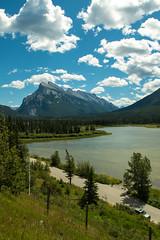 Mount Rundle (inhumantsar) Tags: alberta canada banff vermillion lake mountrundle mountain clouds bluesky