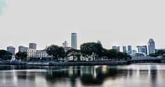 Morning calm (josephteh) Tags: singapore singaporeriver boatquay riverbank longexposure dawn sony cityscape