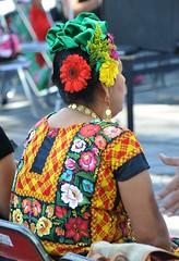 Juchitan Woman Zapoteca Oaxaca (Teyacapan) Tags: mujer woman zapotec oaxacan mexican huipil embroidered ropa clothing textiles gente tehuana