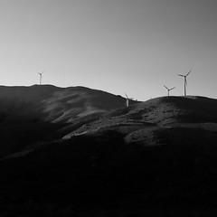 Omalos wind turbines (giozaha) Tags: nature crete omalos sunset chania windturbine