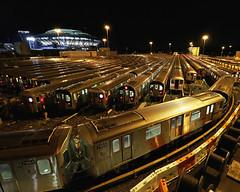 No. 7 train depot in Flushing (@harryshuldman) Tags: 7 seven subway train mta mets willets point flushing meadow corona park queens night city arthur ashe stadium nyc canon eos 7d mark ii