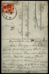 Archiv G819 Kriegstaugliche (back), WWI, 27. April 1918 (Hans-Michael Tappen) Tags: archivhansmichaeltappen ostkarte photokarte schrift kisslegg briefmarke stempel stamps text handschrift 1918 1910er 1910s
