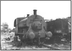 1151 in scrapyard in South Wales (john48677) Tags: saddle tank 1151 hayes bridgend scrapyard sixties steam