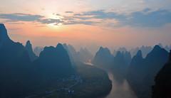 First Light - China (Atilla2008) Tags: guanxi china firstlight yangshuo wow dawn sunrise d90 nikon xingping surreal