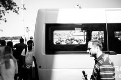 Right there, right now (lorenzoviolone) Tags: agfascala200 bw blackwhite blackandwhite finepix fujix100s fujifilm fujifilmx100s holyangel holyangelsbridge holyangelscastle monochrome vsco vscofilm vehicle window x100s mirrorless strangers streetphoto streetphotobw streetphotography walk:rome=sep222016 roma lazio italy fav10