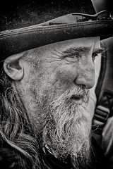 Looking out at the world (Andy J Newman) Tags: tarranthinton england unitedkingdom gb beard oldman grey candid street streetphotography blackandwhite silverefex nikon d500 portrait