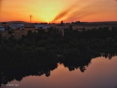 Hot sun (mballabriga1) Tags: sun lights onfire orange water salamanca albadetormes river travel sunset