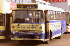MIDLAND BLUEBIRD 338 ULS338T (bobbyblack51) Tags: midland bluebird 338 uls338t leyland leopard alexander y type falkirk bus station 1995